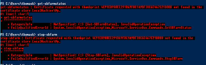 Renew Deleted Expired Certificate For Windows Service Bus | GI ...